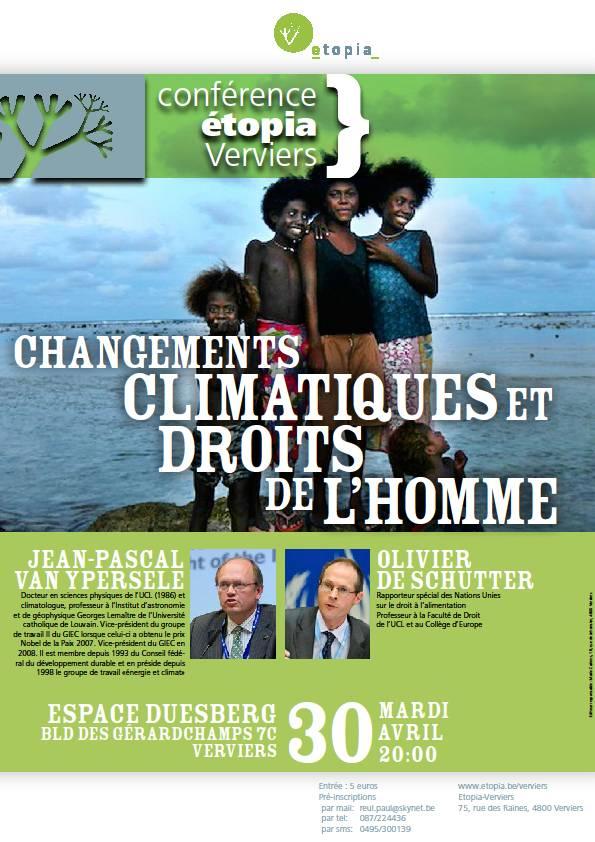 Changements climatiques et Droits de l'homme